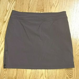 Athleta Trekkie skort size 8 brown